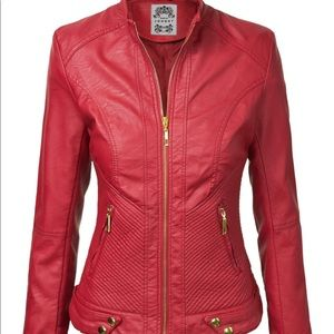 Johnny Red Moto Jacket Large